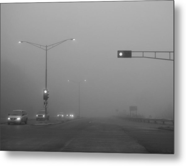 Fogged Commute Metal Print by Wild Thing
