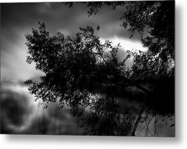Foggy Autumn Morning On The River Metal Print