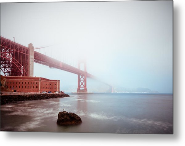 Foggy Bay Metal Print