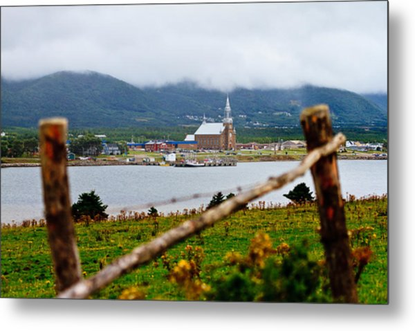 Foggy Day In Cheticamp Metal Print