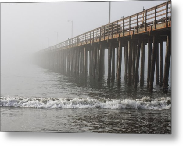 Foggy Dock Metal Print by Jim Young