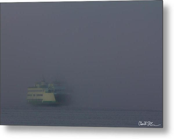 Foggy Ferry Ride Metal Print