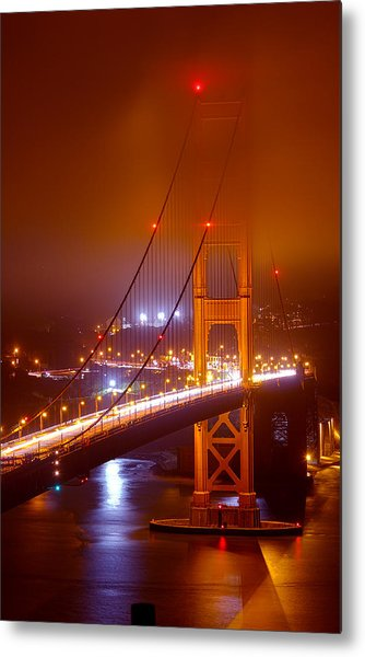 Foggy Golden Gate Metal Print