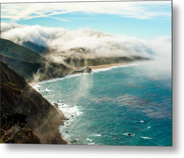 Foggy Lookout Metal Print