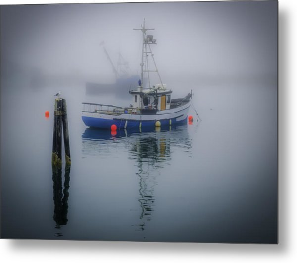 Foggy Morning At Rest Metal Print