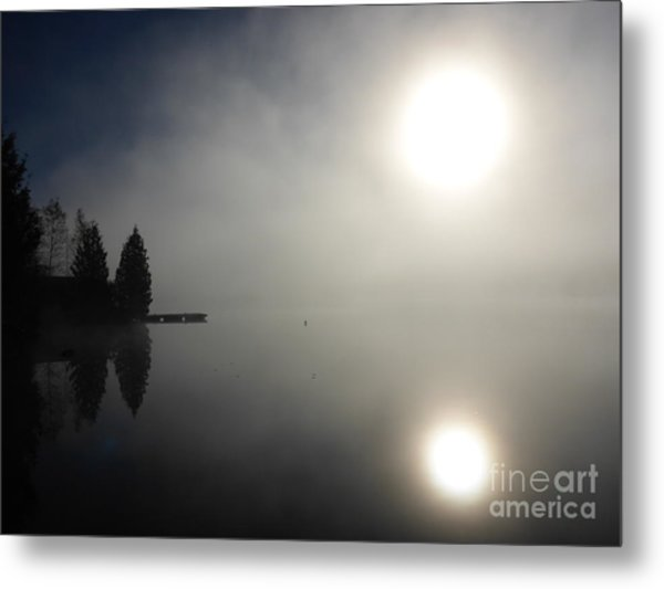 Metal Print featuring the photograph Foggy Morning by Cristina Stefan