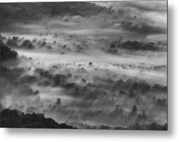 Foggy Morning On The Blue Ridge Parkway Metal Print