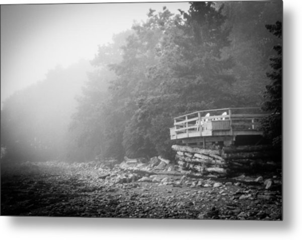 Foggy Morning Overlook Metal Print by David Pinsent