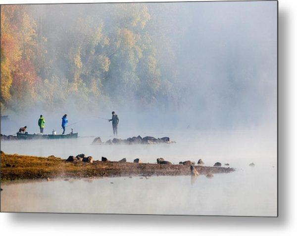 Foggy Morning St Croix River Stillwater Mn Metal Print