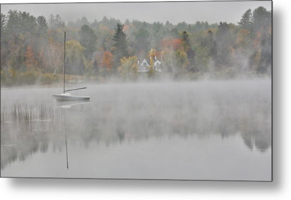 Foggy Morning Small Lake, New Hampshire Metal Print by Darrell Gulin