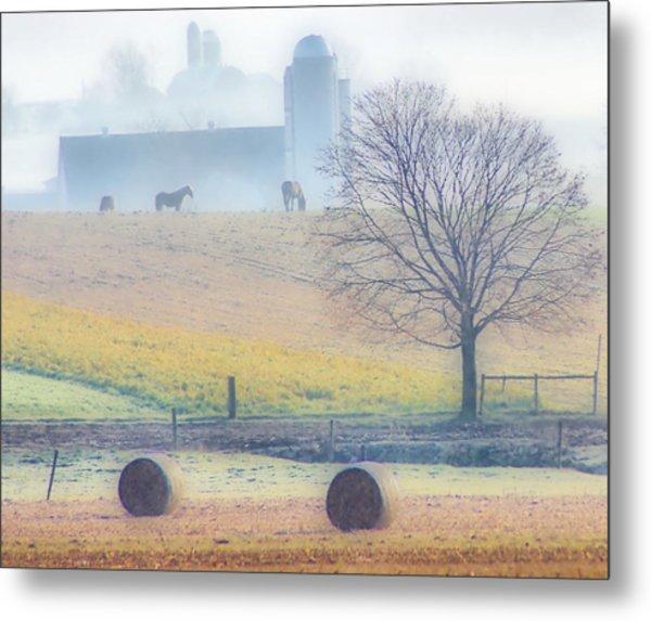 Foggy Morning Metal Print by Thomas  MacPherson Jr