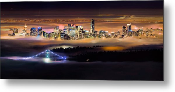 Foggy Night Metal Print