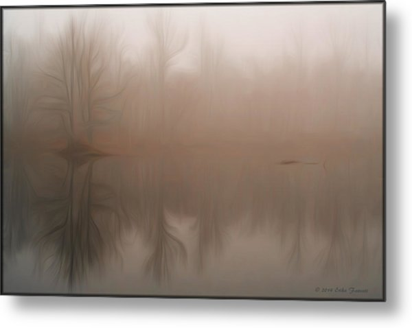 Foggy Reflection Metal Print