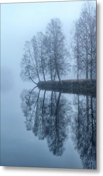 Foggy River Day Metal Print
