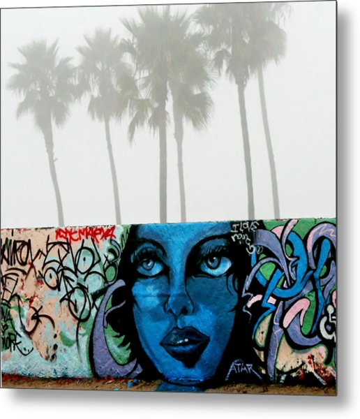 Foggy Venice Beach Metal Print