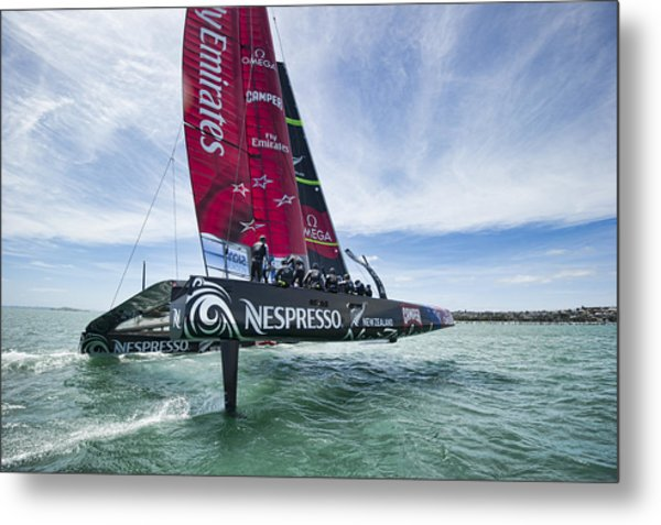 Foiling One Metal Print by Chris Cameron