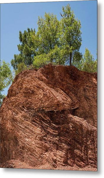 Folded Rock Strata Metal Print by David Parker/science Photo Library