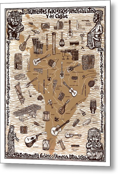 Folk Instruments Of Latin America Metal Print by Ricardo Levins Morales