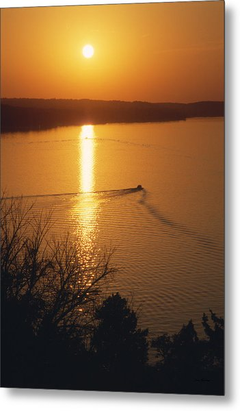 Follow Me Home - Lake Geneva Wisconsin Metal Print