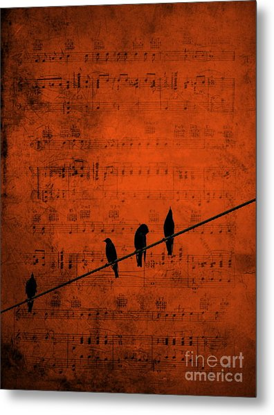 Follow The Music Metal Print
