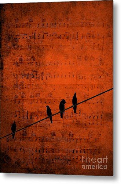 Follow The Music Metal Print