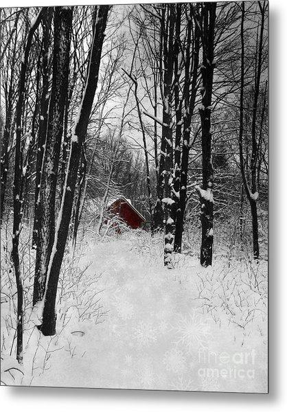 Follow The Snowflake Trail Metal Print