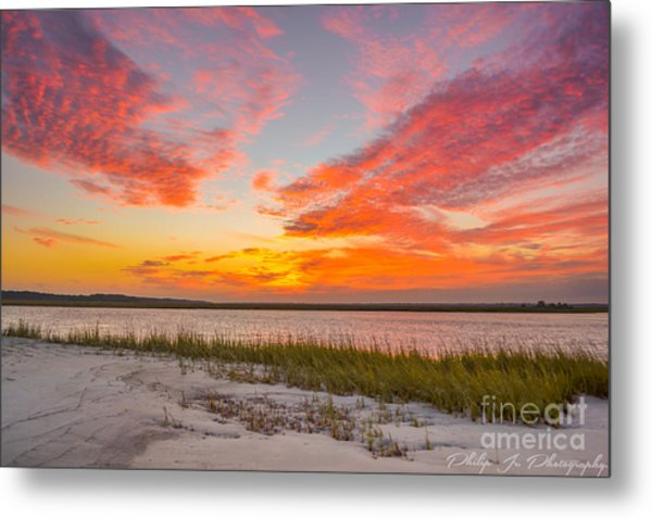 Folly October Sky X Sunset Metal Print by Philip Jr Photography