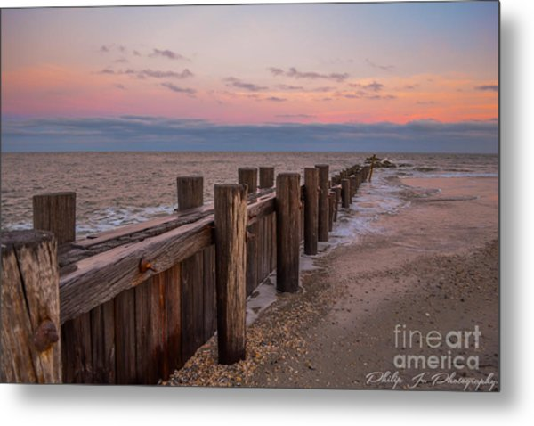 Folly Sunset Metal Print by Philip Jr Photography