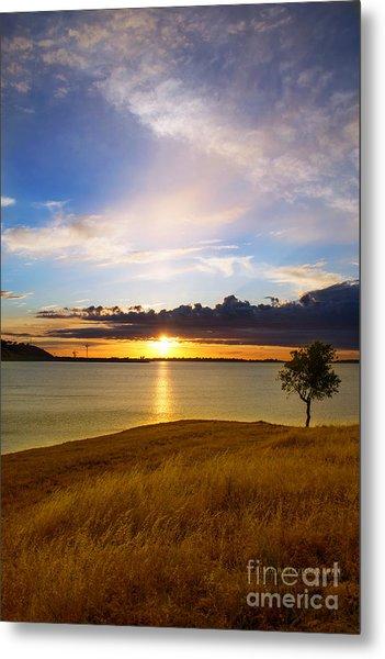 Folsom Lake Sunset Metal Print