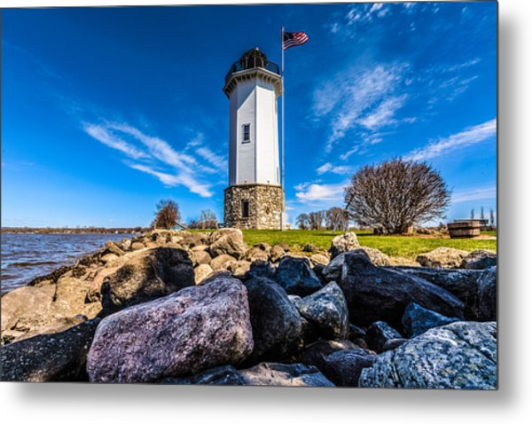 Fond Du Lac Lighthouse Metal Print