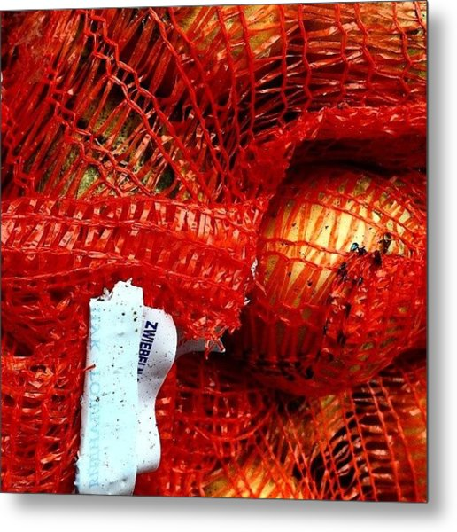 Onions In A Sack Metal Print