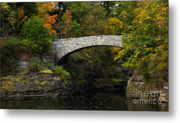 Foot Bridge At Beebe Lake Metal Print