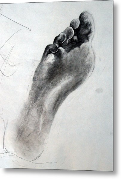Foot Study Metal Print by Corina Bishop
