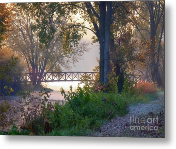 Metal Print featuring the photograph Footbridge II by Kari Yearous