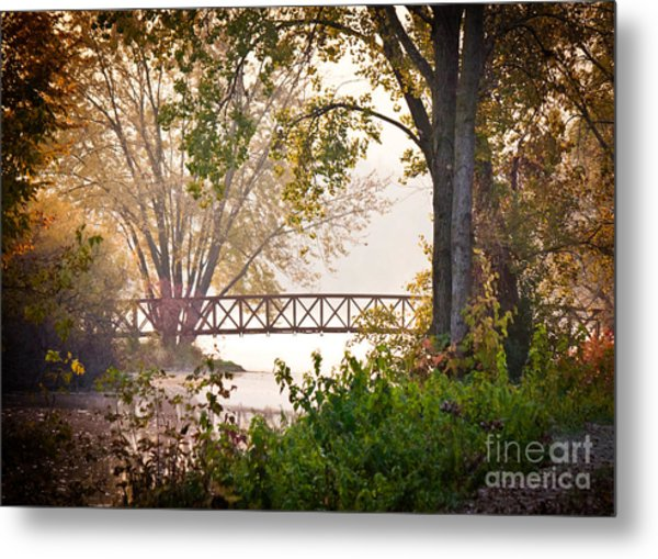 Metal Print featuring the photograph Footbridge by Kari Yearous