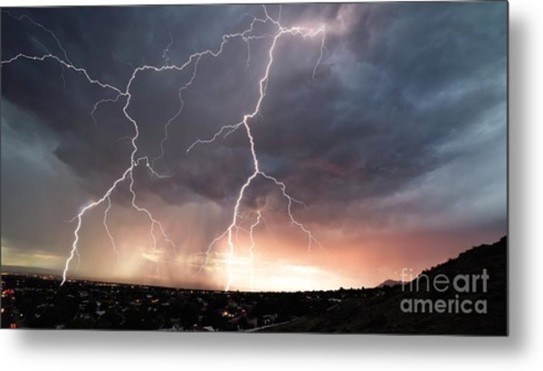 Metal Print featuring the photograph Foothills Strike by Brian Spencer