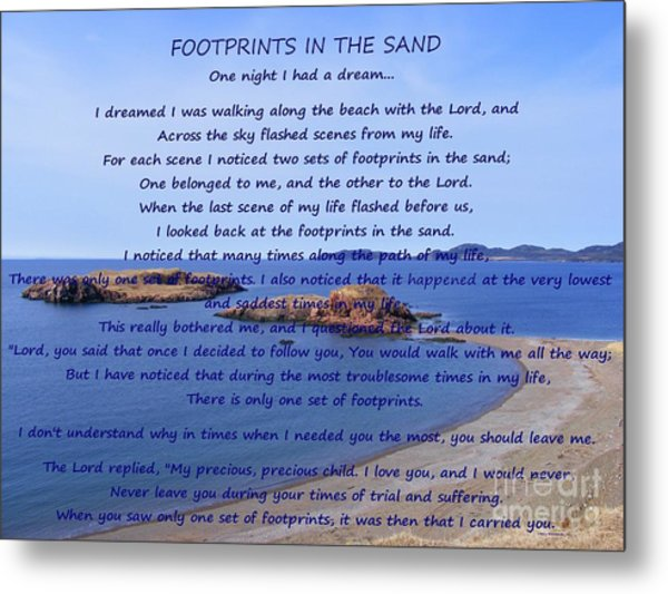 Footprints In The Sand 2 Metal Print