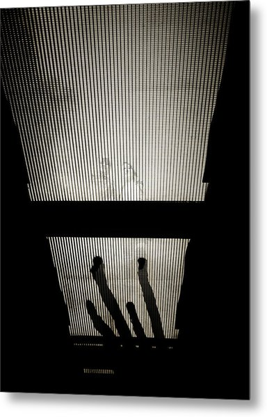 Footsteps And Faces Metal Print