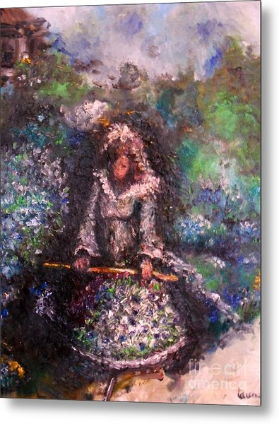 Metal Print featuring the painting For Grandma by Laurie Lundquist
