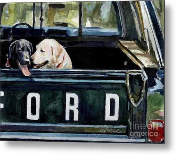 For Our Retriever Dogs Metal Print