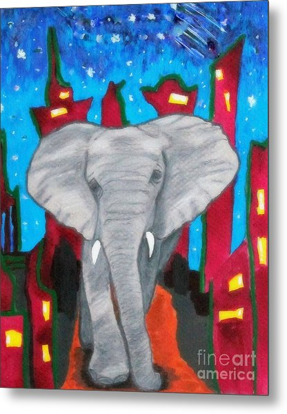 For The Love Of Elephants Metal Print