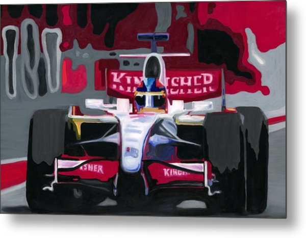 Force India Rising In F1 Monaco Grand Prix 2008 Metal Print