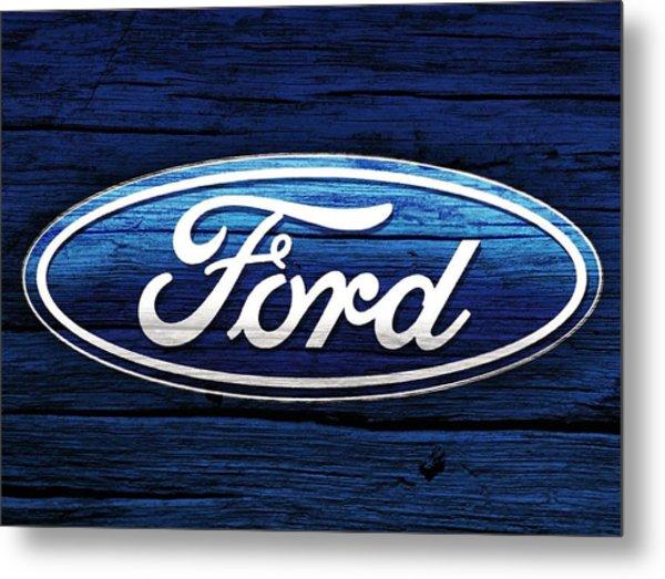 Ford Barn Door Metal Print