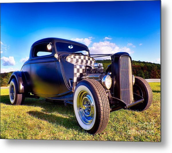 Ford Coupe Hot Rod Metal Print
