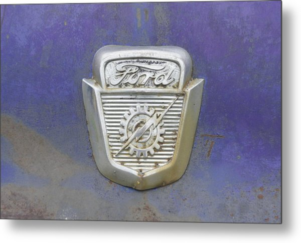 Ford Emblem Metal Print