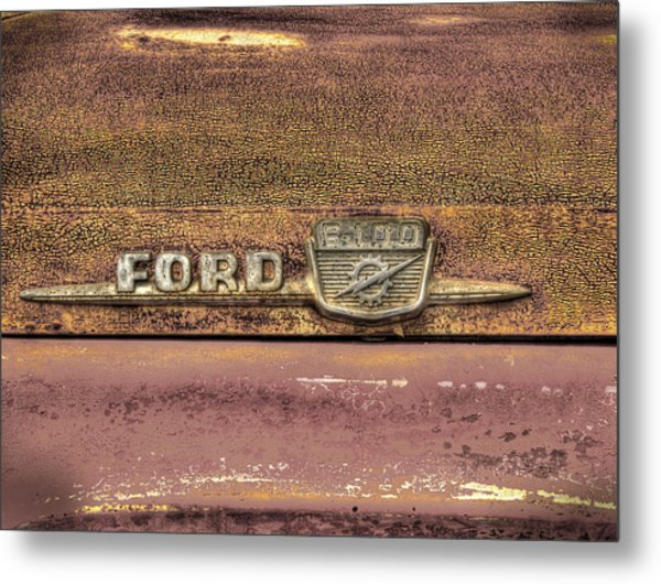 Ford F-100 Metal Print