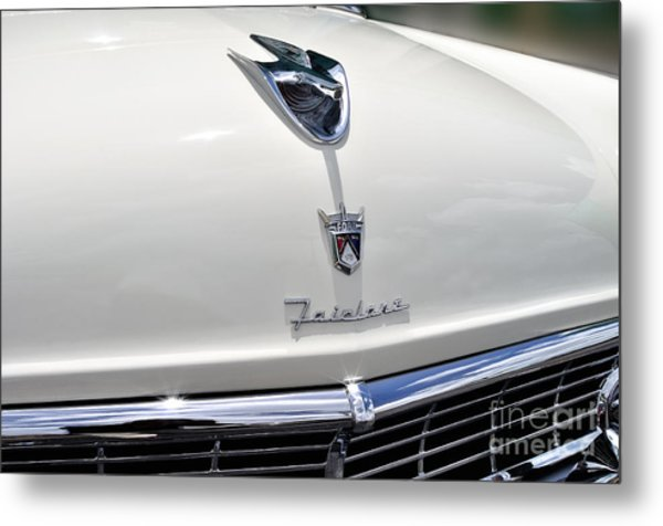 Ford Fairlane Grill Metal Print by Andres LaBrada
