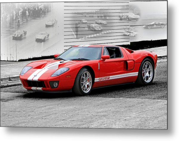 Ford Gt And Gt40 Memories Metal Print