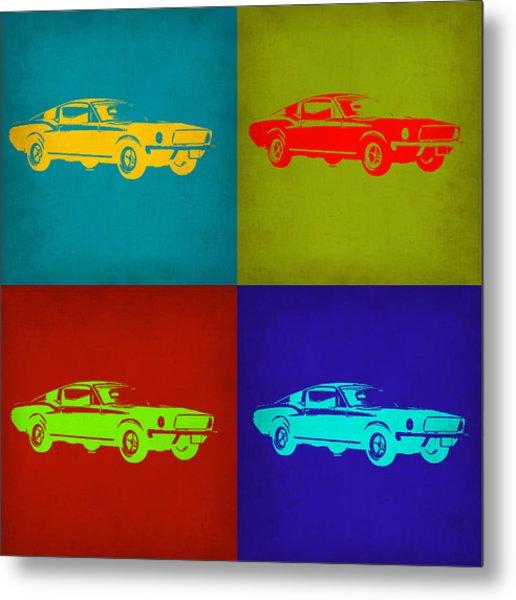 Ford Mustang Pop Art 1 Metal Print