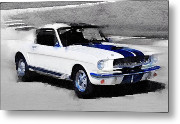 Ford Mustang Shelby Watercolor Metal Print